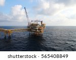 offshore construction platform... | Shutterstock . vector #565408849