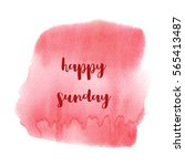 hello sunday text on red... | Shutterstock . vector #565413487