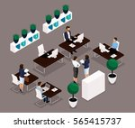 trend isometric people  office... | Shutterstock .eps vector #565415737
