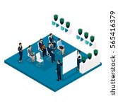 trend isometric people  a room  ... | Shutterstock .eps vector #565416379