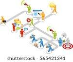 business flow diagram icon set | Shutterstock .eps vector #565421341