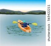 kayak vector illustration...   Shutterstock .eps vector #565422211