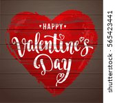happy valentine's day. modern... | Shutterstock .eps vector #565423441