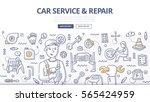 doodle vector illustration of... | Shutterstock .eps vector #565424959