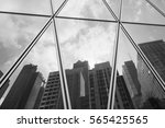 black and white  reflection... | Shutterstock . vector #565425565