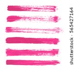 green vector strokes of paint... | Shutterstock .eps vector #565427164