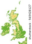 united kingdom and ireland... | Shutterstock .eps vector #565428127