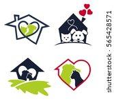 logo for dog and cat veterinary ...   Shutterstock .eps vector #565428571