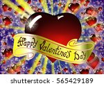 happy valentine's day... | Shutterstock .eps vector #565429189