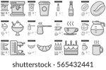 junk food vector line icon set... | Shutterstock .eps vector #565432441