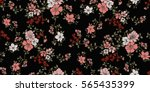 seamless floral pattern in... | Shutterstock .eps vector #565435399