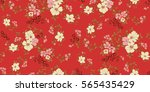 seamless floral pattern in... | Shutterstock .eps vector #565435429
