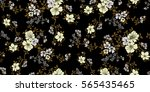 seamless floral pattern in... | Shutterstock .eps vector #565435465