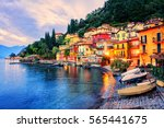 menaggio old town on lake como  ... | Shutterstock . vector #565441675
