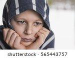 Sad Boy. Teenager With Sad...