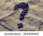 coffee beans in the shape of... | Shutterstock . vector #565446445