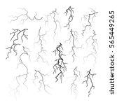 set of different black cracks...   Shutterstock .eps vector #565449265