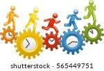 working around the clock | Shutterstock .eps vector #565449751
