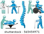 physiotherapy icon set | Shutterstock .eps vector #565454971