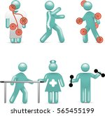physiotherapy icon set | Shutterstock .eps vector #565455199