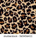 seamless leopard texture | Shutterstock .eps vector #565456411