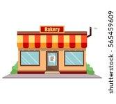 vector illustration bakery shop ... | Shutterstock .eps vector #565459609