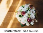 flowers wedding bride rings... | Shutterstock . vector #565463851