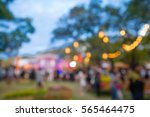 abstract blur people in night... | Shutterstock . vector #565464475