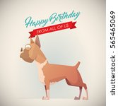 birthday greeting card with...   Shutterstock .eps vector #565465069