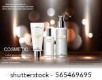 exquisite cosmetic ads template ... | Shutterstock .eps vector #565469695