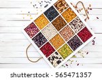 variety of legumes  range  in... | Shutterstock . vector #565471357
