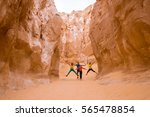 tourists enjoy in white canyon  ... | Shutterstock . vector #565478854