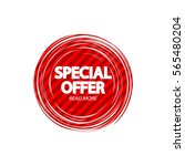special offer  banner design... | Shutterstock .eps vector #565480204