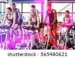 fit people working out at... | Shutterstock . vector #565480621