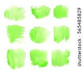 set watercolor ink blobs ... | Shutterstock . vector #565485829