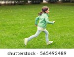 summer  childhood  leisure and... | Shutterstock . vector #565492489