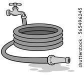 water hose illustration | Shutterstock .eps vector #565496245