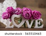love  valentine's day concept ... | Shutterstock . vector #565510465