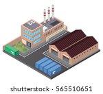 modern isometric industrial... | Shutterstock .eps vector #565510651
