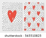 cute love set. card and... | Shutterstock .eps vector #565510825