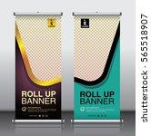 roll up brochure flyer banner... | Shutterstock .eps vector #565518907