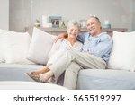 portrait of romantic senior... | Shutterstock . vector #565519297