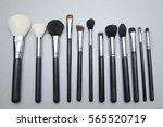 makeup  cosmetic brushes  | Shutterstock . vector #565520719