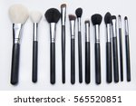 makeup  cosmetic brushes  | Shutterstock . vector #565520851