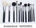 makeup  cosmetic brushes  | Shutterstock . vector #565520851