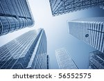 canary wharf financial district ... | Shutterstock . vector #56552575