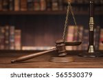 law theme  mallet of the judge  ... | Shutterstock . vector #565530379