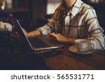young girl business woman... | Shutterstock . vector #565531771