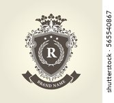 medieval royal coat of arms  ... | Shutterstock .eps vector #565540867