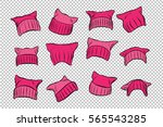 set pink womens pussy hat ... | Shutterstock .eps vector #565543285